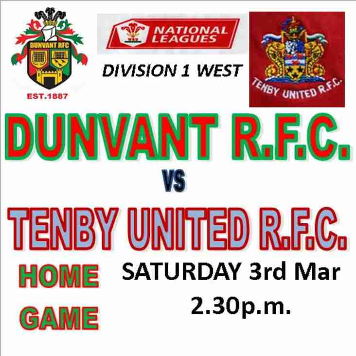 DUNVANT HOST THE SEASIDERS THIS SATURDAY (Mar 3rd)