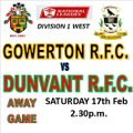 STARCH TOO STIFF FOR DUNVANT (17th Feb)