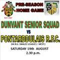 Dunvant RFC Senior Squad vs. Pontarddulais RFC