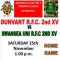 Dunvant 2nd XV vs. Swansea University 2nd XV