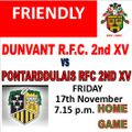 2nd  XV beat Pontarddulais 2nd XV 33 - 14