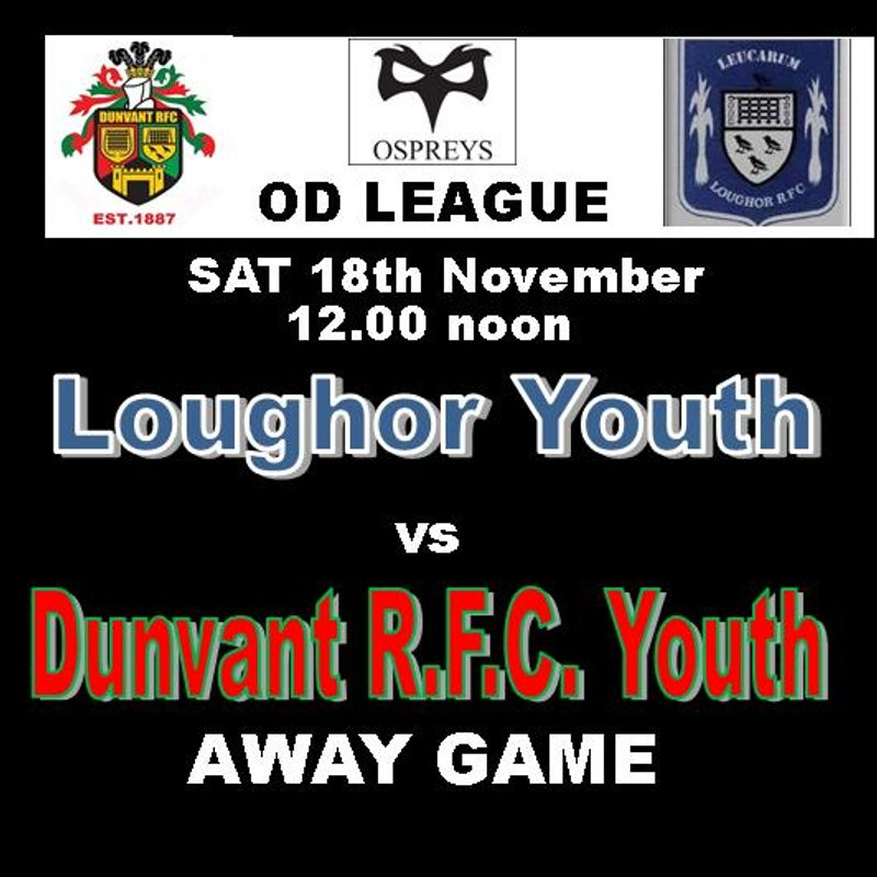 UNBEATEN YOUTH FACE UNBEATEN LOUGHOR AT VILLA FIELD (18th Nov)