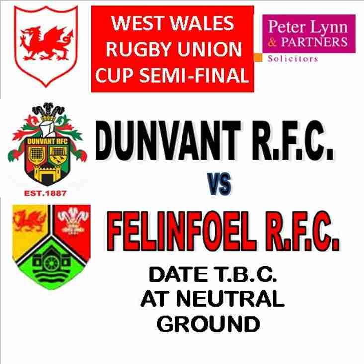 DUNVANT PLAY FELINFOEL IN WWRU CUP SEMI FINAL