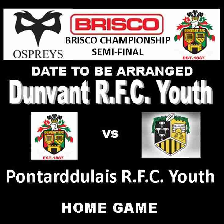 DUNVANT YOUTH QUALIFY FOR BRISCO CHAMPIONSHIP SEMI-FINALS
