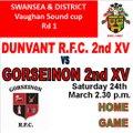 Dunvant RFC 2nd XV vs. Gorseinon 2nd XV