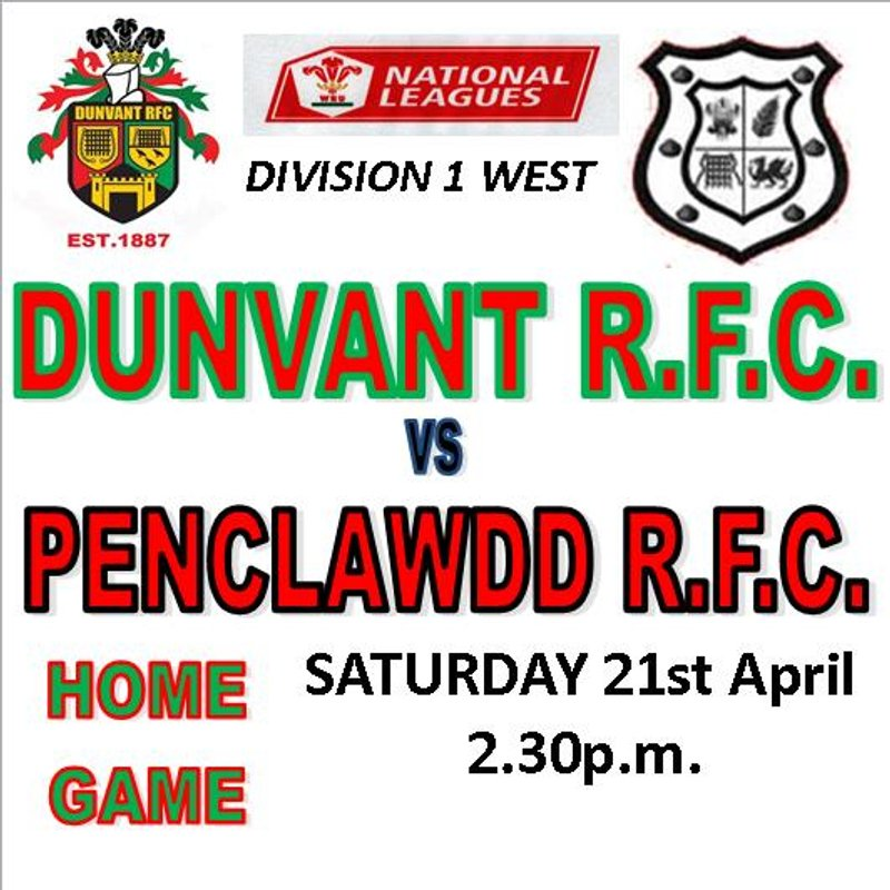 DUNVANT HAVE TO GRAFT AGAINST DOGGED DONKS (21st Apr)