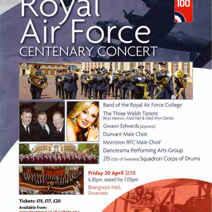 RAF 100 CENTENARY CONCERT 20th April