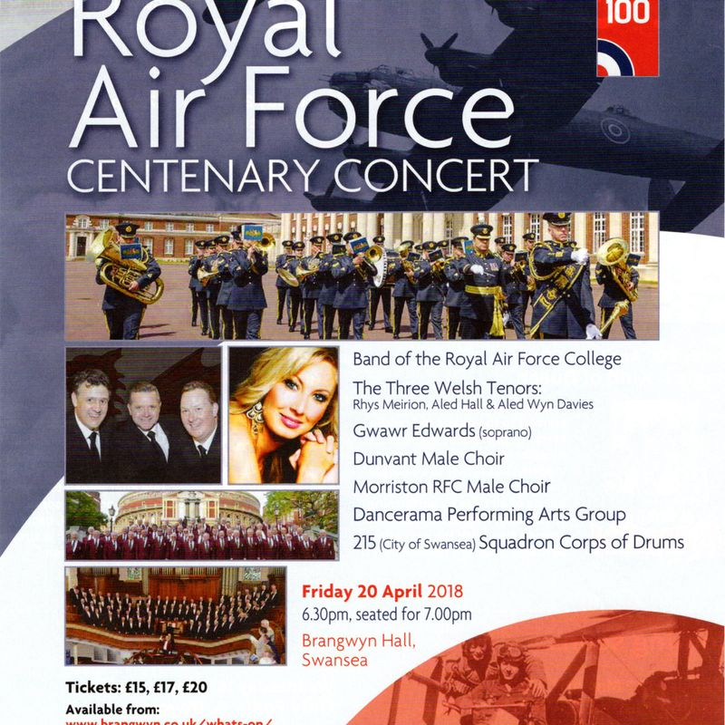RAF 100 CENTENARY CONCERT 20th April