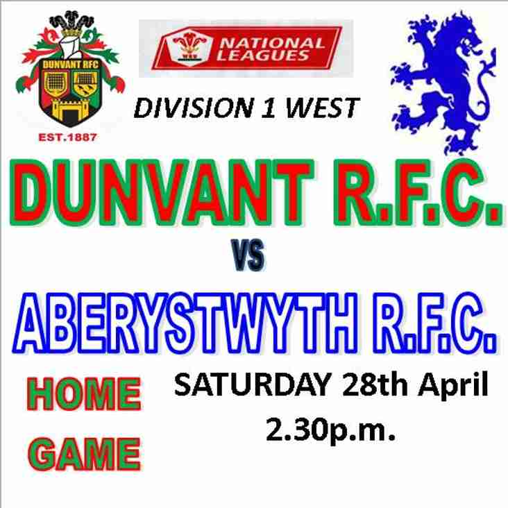 DUNVANT HOST 6th PLACED ABERYSTWYTH THIS WEEKEND (Apr 28th)