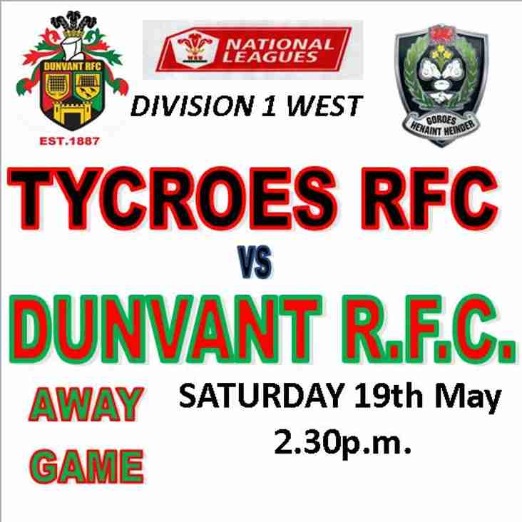 DUNVANT TRAVEL TO CAE GELLI TO FACE TYCROES (19th May)