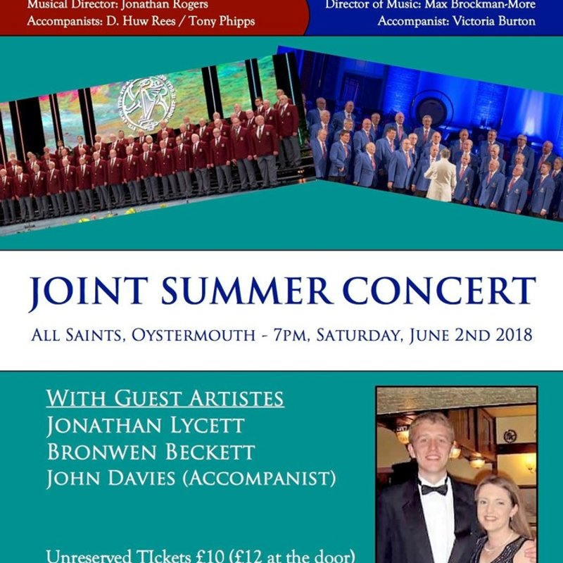 DUNVANT MALE CHOIR-JOINT SUMMER CONCERT(2ndJune)