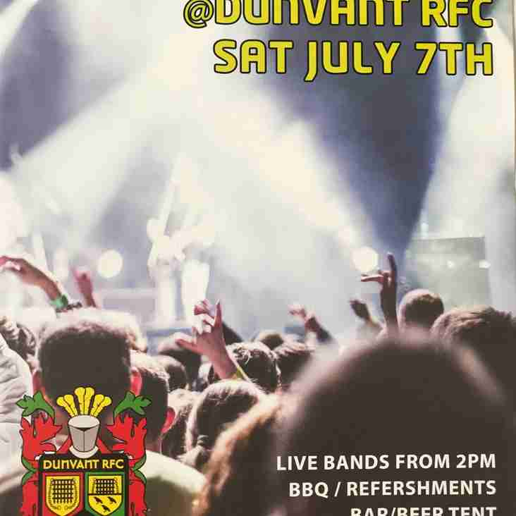 D/Fest-Live Bands Extravaganza at Dunvant R.F.C. (July 7th)