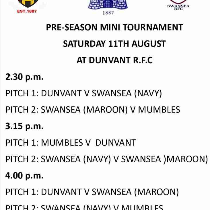 DUNVANT HOST MINI TOURNAMENT WITH MUMBLES & SWANSEA (Aug11)