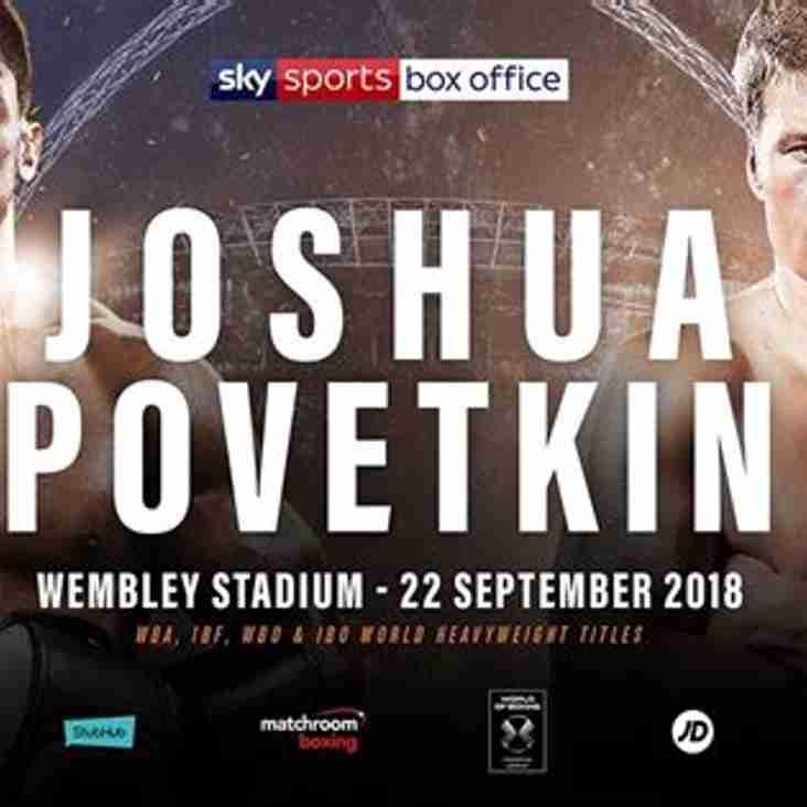 URGENT NEWS: JOSHUA v POVETKIN IS ON AT DUNVANT RFC TONIGHT