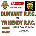 Dunvant vs. Yr Hendy