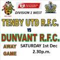 1st XV 18/19 beat Tenby United 13 - 20
