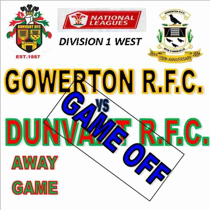 DUNVANT ARE AWAY TO LOCAL RIVALS  GOWERTON THIS SAT (29th Dec)