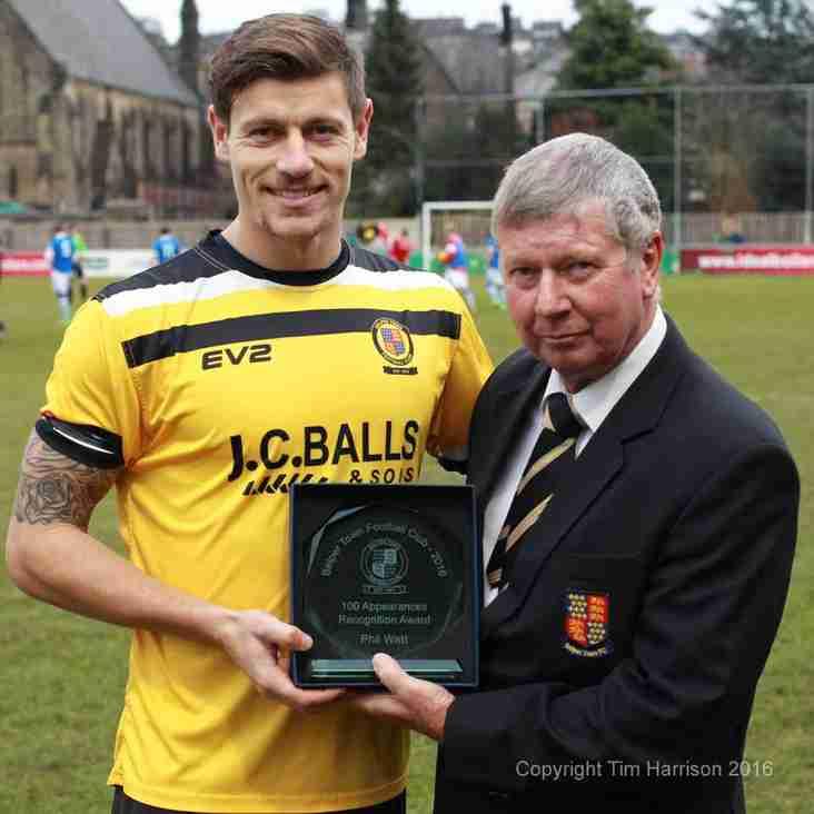Watt Receives Award For 100 Games