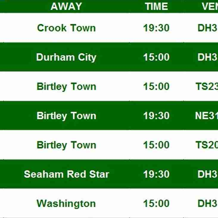 UPDATED SEPTEMBER FIXTURES