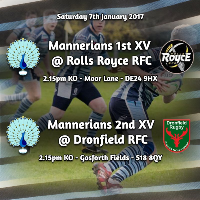 Senior Rugby Saturday 7th January