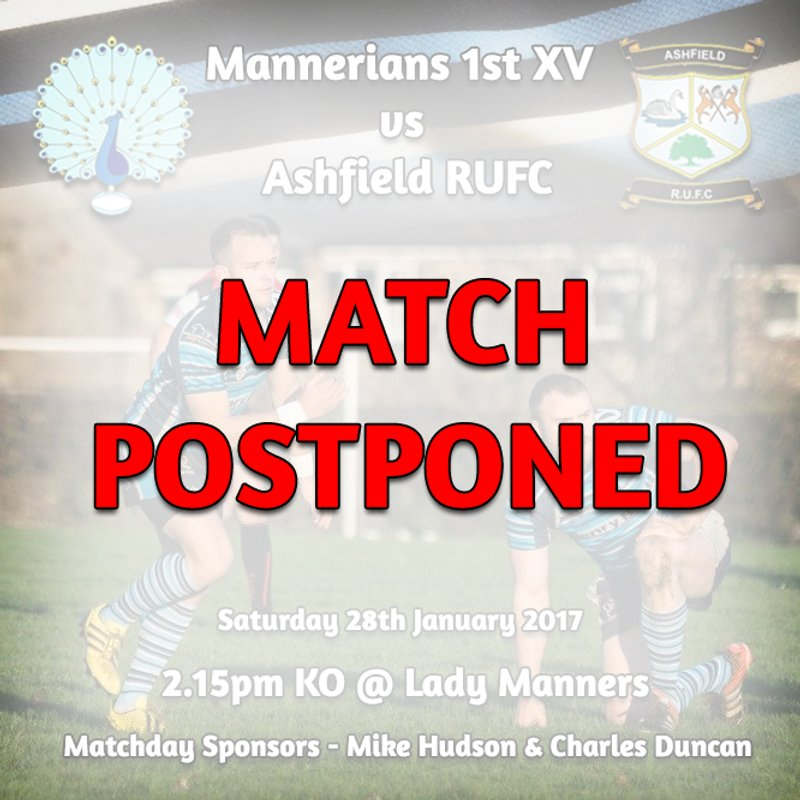 *MATCH POSTPONED* Saturday 28th January