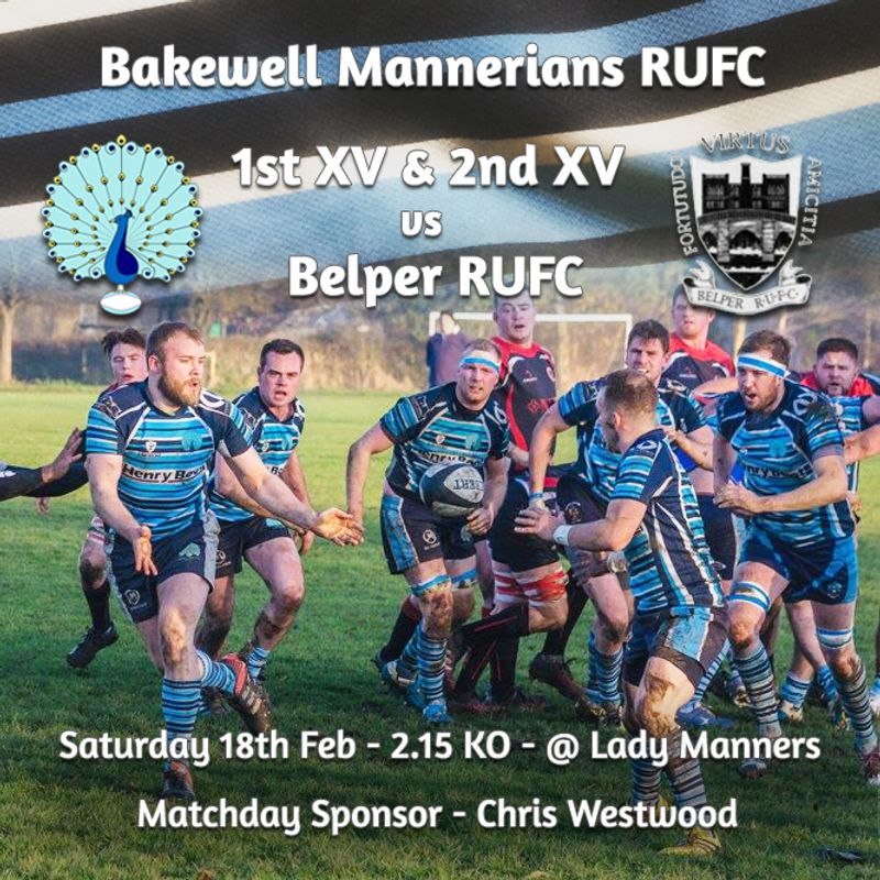 Senior Rugby Saturday 18th February