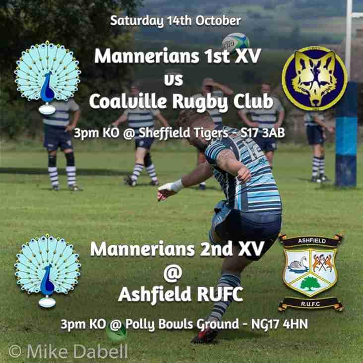 Senior Rugby Saturday 14th October