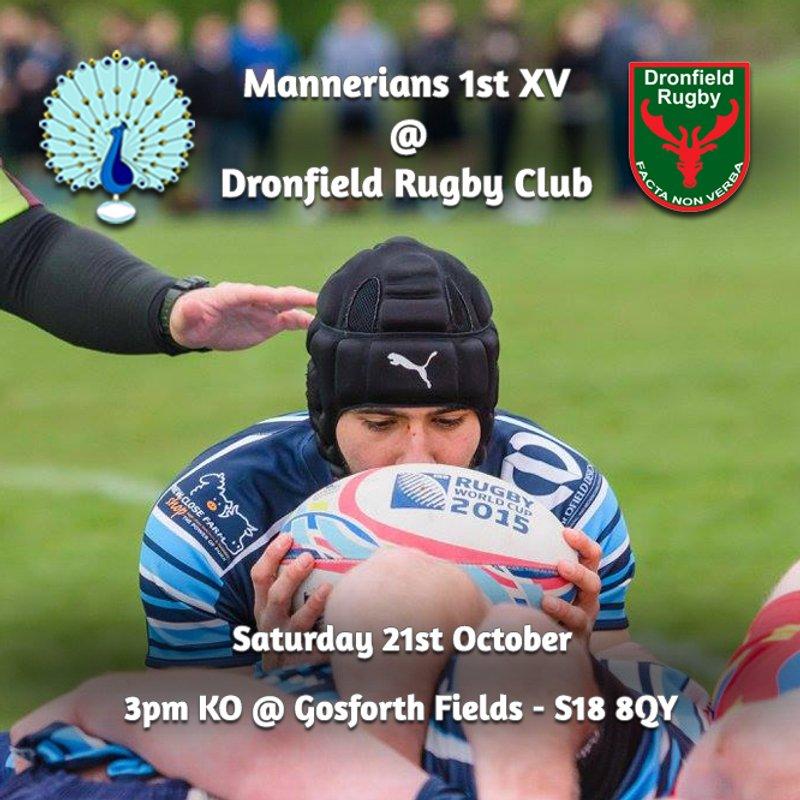 Senior Rugby Saturday 21st October