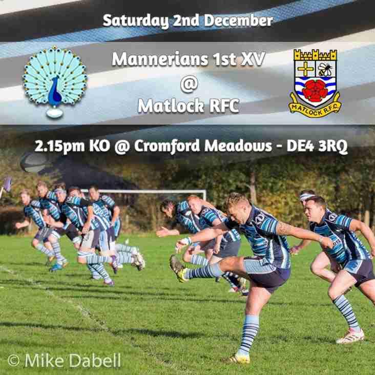 Senior Rugby Saturday 2nd December