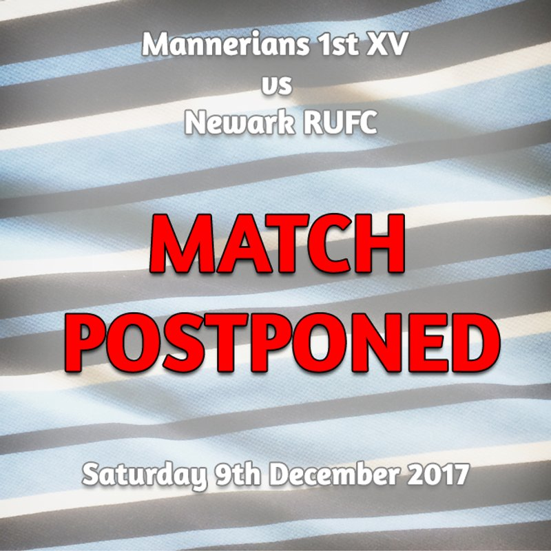 Saturday 9th December - 1st XV fixture CANCELLED