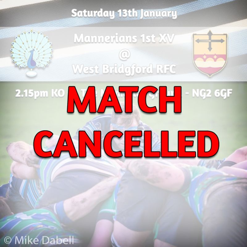 *MATCH CANCELLED* Saturday 13th January