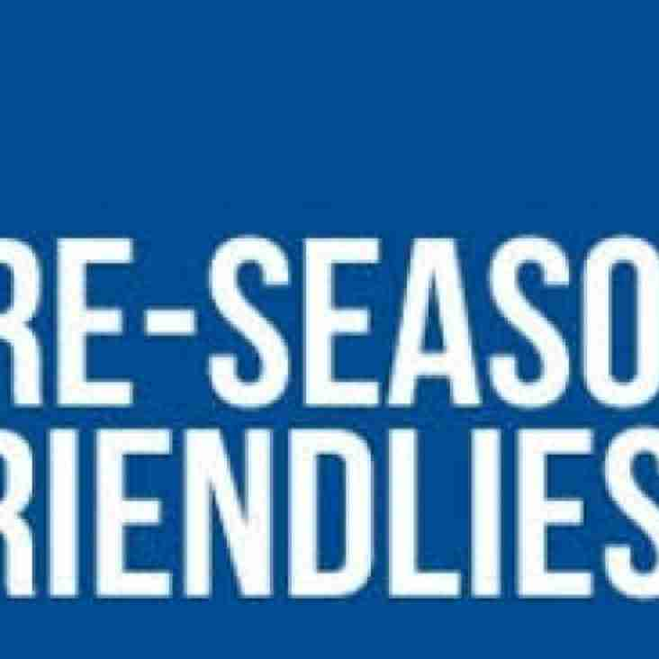 Pre-Season Friendlies and Training Sessions Announced