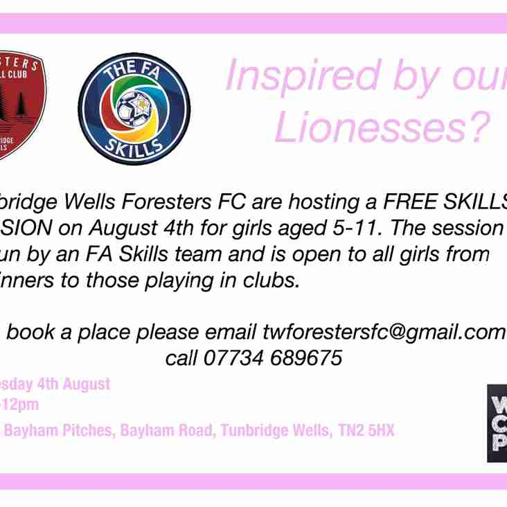 TW Foresters teams up with FA Skills team to offer FREE session to girls