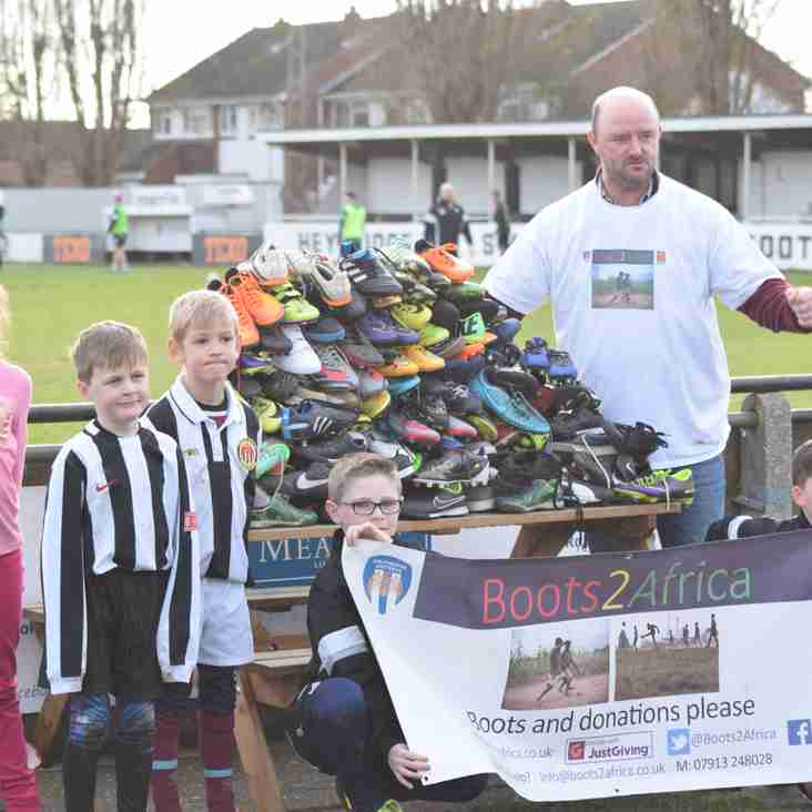 Swifts donate 70 pairs of boots to Boots2Africa campaign