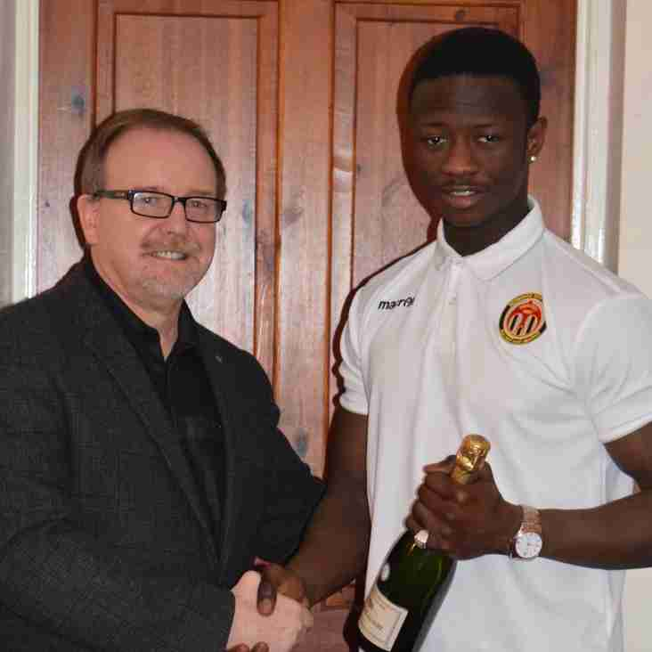 Player of the month for January to young Alieu