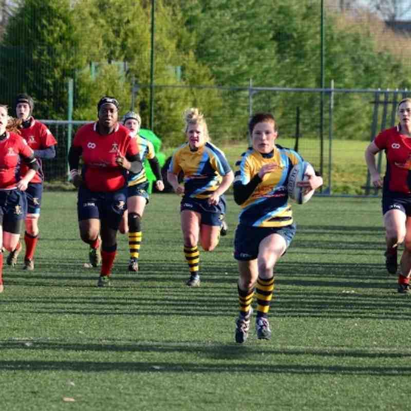 Worcester Ladies 1st XV v Aylesford Bulls 19.1.14