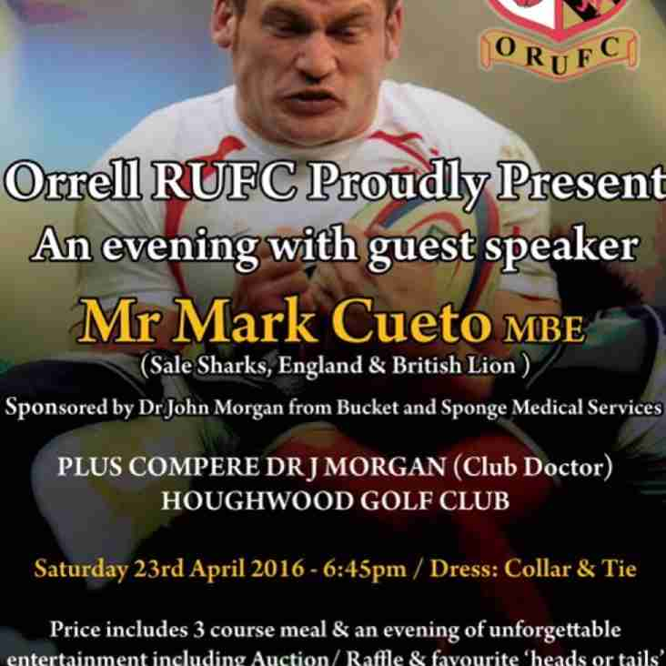 An evening with Mark Cueto