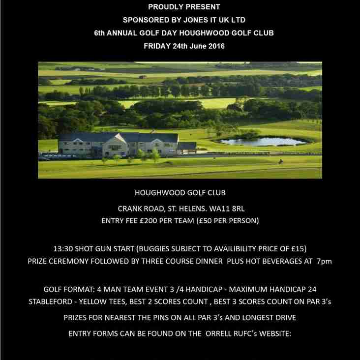6th Annual Golf Day Friday 24th June 2016