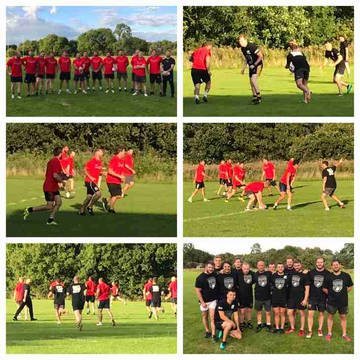 Lancashire Legends RL team visit pre-season training at SJR.
