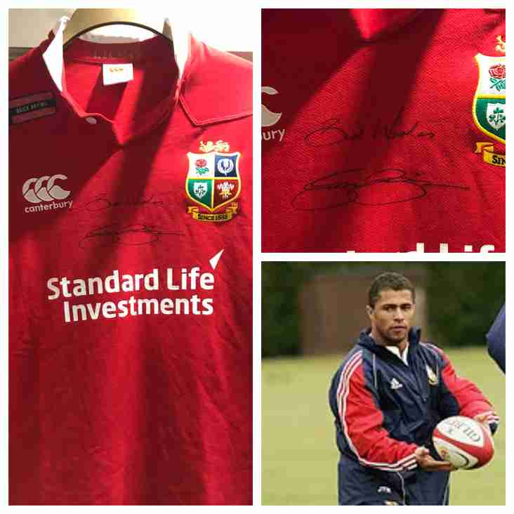Jason Robinson signed Lions Shirt