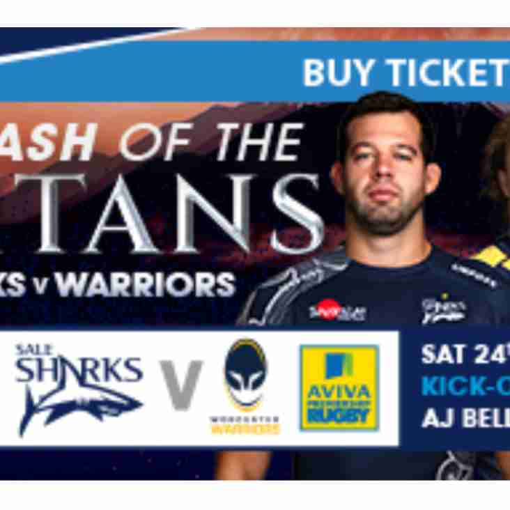Last Chance to see Sale take on Worcester Warriors