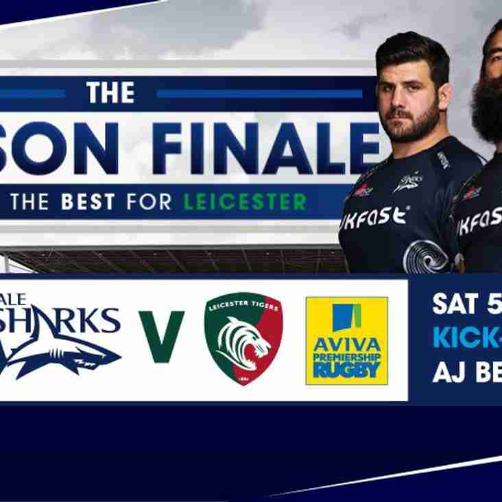FINAL CHANCE TO WATCH SALE SHARKS vs LEICESTER TIGERS