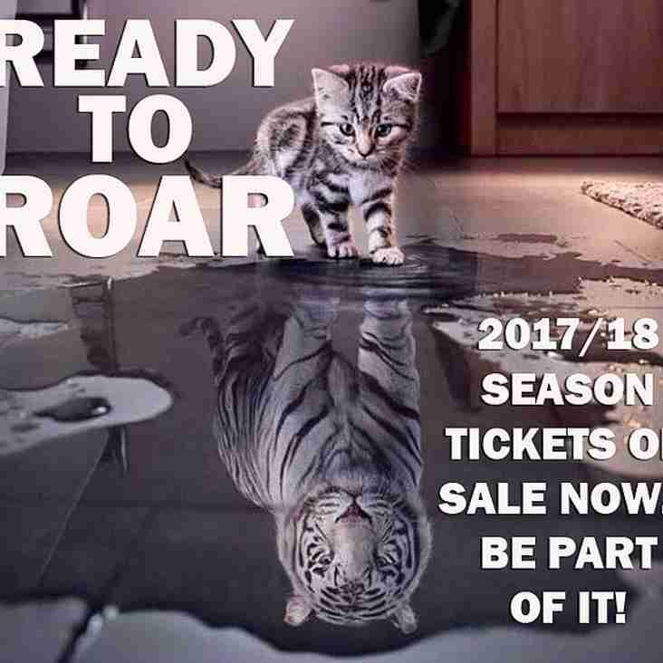 READY TO ROAR: 2017/18 season tickets on sale now!