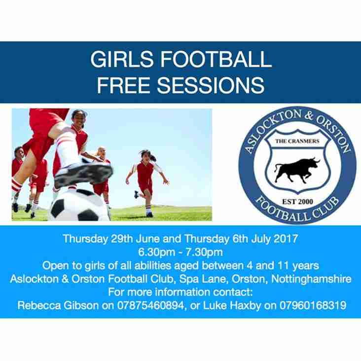 More Free Sessions For Girls