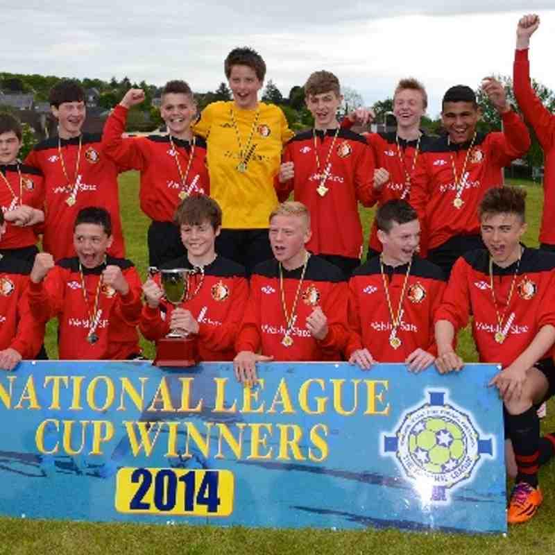 RRFC U14's 2 v 1 Ballinamallard UTD FC [ET] NIBFA KO CUP Final 17-05-214