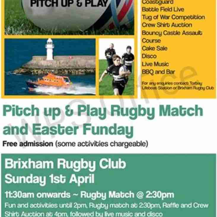 Not one but three Easter events:  Easter Funday + Social Pitch Up and Play + Live music with ROX