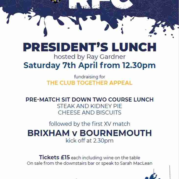 Brixham RFC President's Lunch 2018