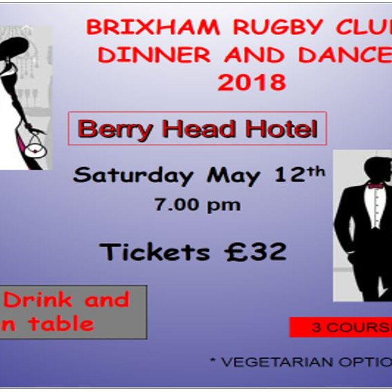UPDATE! - Brixham RFC Annual Dinner and Dance 2018 - PLEASE SIGN UP FOR TICKETS ASAP!