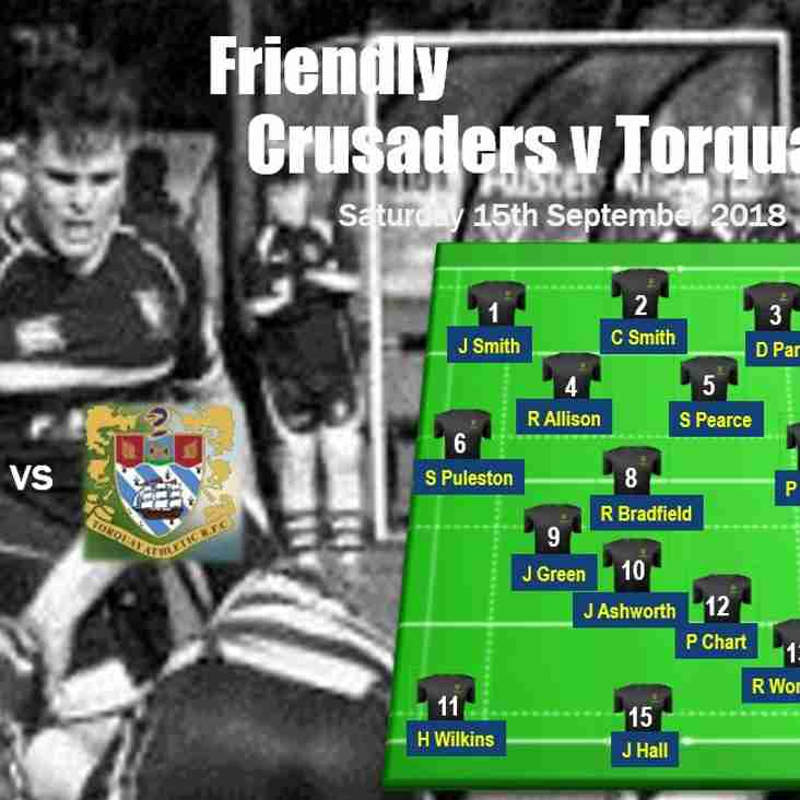 This Saturday Crusaders host Torquay in friendly at Astley Park - please come and support