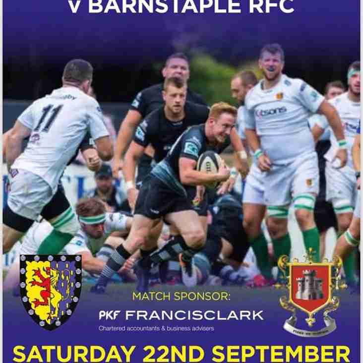 Brixham 1st XV vs Barnstaple this Saturday